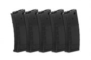 Valken RMAG M4/M16 300 rd. AEG High Capacity Thermold Magazine - 5 Pack (Black)