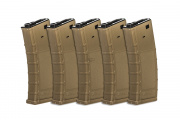 Valken RMAG M4/M16 300 rd. AEG High Capacity Thermold Magazine - 5 Pack (Tan)