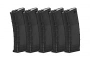 Valken RMAG M4/M16 140 rd. AEG Mid Capacity Thermold Magazine - 5 Pack (Black)
