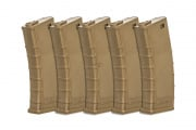 Valken RMAG M4/M16 140 rd. AEG Mid Capacity Thermold Magazine - 5 Pack (Tan)