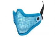 UK Arms Tactical Metal Mesh Half Mask  (Blue/Double Strap Version)