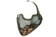 UK Arms Tactical Metal Mesh Half Mask with Ear Protection (Marpat)