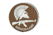 Tac 9 Industries Molon Labe PVC Patch (Tan)