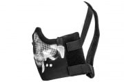 UK Arms V8 Tactical Mesh Half Mask (Black Skull)