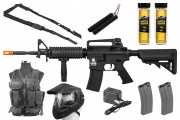 Best Airsoft Gun Starter Package w/ Vest, Face Mask, AEG Airsoft Gun, BBs, Magazines, & Sling ( Pick a Color )