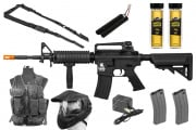 Best Airsoft Gun Starter Package w/ Vest, Face Mask, AEG Airsoft Gun, BBs, Magazines, & Sling (Pick a Color)