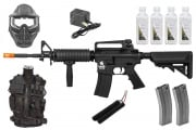 Best Airsoft Rifle Starter Package w/ Vest, Face Mask, AEG Airsoft Rifle, BBs, & Magazines (Black)