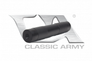 Classic Army 35 x 140 mm 14mm CCW Airsoft Silencer (Black)