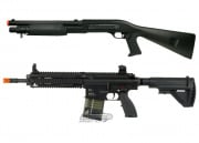 Elite Force HK 417 AEG Airsoft gun & M3 Tri Shot Spring Shotgun Package (Black)