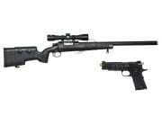 FN Herstal SPR A5M w/Scope and Blackwater CO2 1911A1 Blow Back Airsoft Gun Battle Package 1 (2 guns/Package 1)