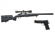 FN Herstal SPR A5M w/Scope and Blackwater Co2 1911A1 Blow Back Airsoft Gun Battle Package 2 (2 guns/Package 2)