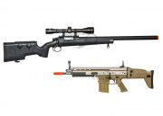 FN Herstal SPR A5 Sniper Rifle/WE Full Metal SCAR-H MK17 AEG Airsoft Gun Sniper Team Battle Package 2 (2 guns/Package 2)