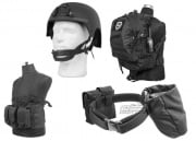Airsoft GI Basic Chest Rig Loadout Tactical Gear Package ( Black )