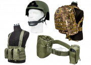 Airsoft GI Basic Chest Rig Loadout Tactical Gear Package (Camo)