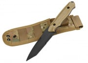 UK Arms Rubber Training Knife W/ Sheath Holster (Tan)