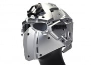 WoSporT Tactical Helmet w/ NVG & Transfer Base (Silver)