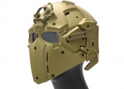 WoSporT Tactical Helmet w/ NVG & Transfer Base (Tan)