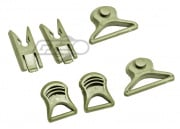 Lancer Tactical Goggle Swivel Clips For FAST Helmet (Foliage Green)