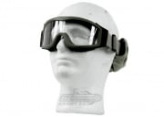 Lancer Tactical CA-201G Airsoft Safety Clear Lens Goggles Basic (OD Green)