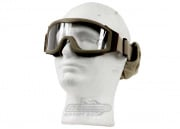 Lancer Tactical CA-201T Airsoft Safety Goggles Basic - Desert Tan Frame/Clear Lens