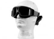 Lancer Tactical CA-203B Airsoft Safety Smoke/Clear/Yellow Multi Lens Kit Goggles Basic (Black)