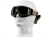Lancer Tactical CA-203T Airsoft Safety Goggles Basic with Multi Lens Kit - Desert Tan Frame/Smoke, Clear and Yellow Lens