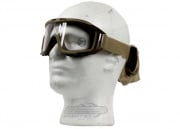 Lancer Tactical CA-211T Airsoft Safety Mask Standard - Desert Tan Frame/Clear Lens