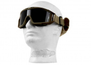 Lancer Tactical CA-213T Airsoft Safety Mask Standard with Multi Lens Kit - Desert Tan Frame / Smoke, Clear and Yellow Lens
