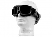 Lancer Tactical CA-223B Airsoft Safety Mask Vented with Multi Lens Kit - Black Frame/Smoke, Clear and Yellow Lens