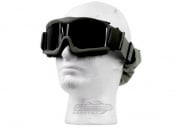 Lancer Tactical CA-223G Airsoft Safety Smoke/Clear/Yellow Multi Lens Kit Goggles Vented (OD Green)