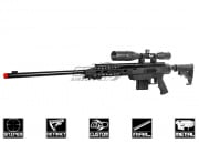 Action Army Full Metal AAC-21 Gas Sniper Rifle Airsoft Gun (No Rails) (Black)