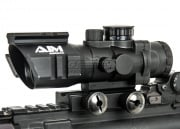 AIM Sports 4x32 Tri-Illuminated Scope w/ Tri-Rail & Mount