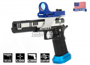 Targets on Sight Tigercat Two Tone Open Class GBB Pistol Airsoft Gun (Silver/Black)