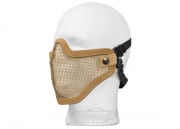 Bravo Strike Steel Half-Face Mesh Mask (Tan)