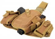 Lancer Tactical MOLLE Platform Drop Leg Holster (Tan)
