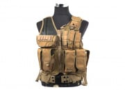 Defcon 600 Denier Tactical Crossdraw Vest (Tan)