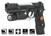 WE Biohazard M9 Pistol GBB Airsoft Gun (Black)