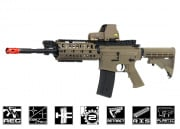 JG F6613TAN SR16 RIS M4 Carbine AEG Airsoft Gun Enhanced Version (Tan)