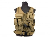 Lancer Tactical Cross Draw Vest ( TAN )