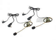 Midland Camo Headset with Wind Resistant Boom Mics