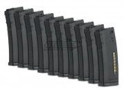 Magpul PTS Green Label 75rd M4/M16 Mid Capacity AEG Magazine (10 Pack/E-Mag/Black)