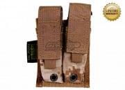 Pantac USA 1000D Cordura Molle 9mm Double Magazine Pouch (Desert Digital)