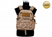 Pantac USA 1000D Cordura LT6094 Low Profile Plate Carrier ( Desert Digital / Medium )