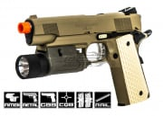 Socom Gear M1911 Desert Warrior Pistol GBB Airsoft Gun x 2 Magazine package (Tan)