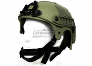 Tactical Crusader IBH Helmet W/ NVG Mount and Side Rail ( OD )