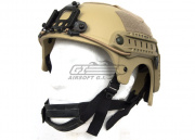 Tactical Crusader IBH Helmet W/ NVG Mount and Side Rail ( Tan )