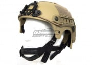 Tactical Crusader IBH Helmet W/ NVG Mount and Side Rail (Tan)