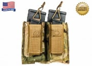 Tactical Assault Gear Double MOLLE Shingle Pistol Enhanced Mag Pouch ( MC )