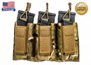 Tactical Assault Gear Triple MOLLE Shingle Pistol Enhanced Mag Pouch ( MC )