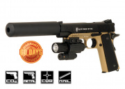 Elite Force 1911 Tactical CO2 Blowback Airsoft Gun (BLK/DEB)